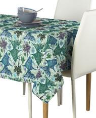 Paisley Fish Blue Signature Rectangle Tablecloths