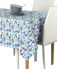 Seashells Blue Signature Rectangle Tablecloths