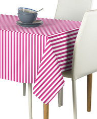 Pink Small Stripes Milliken Signature Rectangle Tablecloths