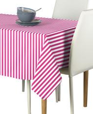 Pink Small Stripes Milliken Signature Rectangle Tablecloths