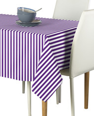 Purple Small Stripes Milliken Signature Rectangle Tablecloths