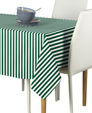 Green Small Stripes Milliken Signature Rectangle Tablecloths