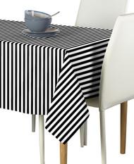 Black Small Stripes Milliken Signature Rectangle Tablecloths