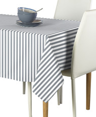 Grey Small Stripes Milliken Signature Rectangle Tablecloths