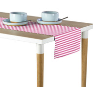 Pink Small Stripes Milliken Signature Table Runner - Assorted Sizes