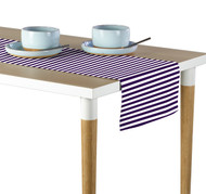 Purple Small Stripes Milliken Signature Table Runner - Assorted Sizes