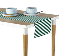 Green Small Stripes Milliken Signature Table Runner - Assorted Sizes