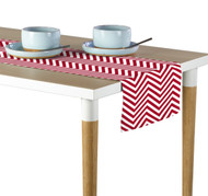 Red Chevron Milliken Signature Table Runner - Assorted Sizes