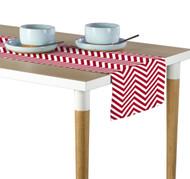 Red Chevron Milliken Signature Table Runner - Assorted Sizes