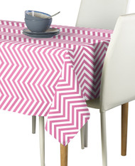 Pink Chevron Milliken Signature Rectangle Tablecloths