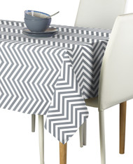 Grey Chevron Milliken Signature Rectangle Tablecloths