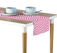 Pink Chevron Milliken Signature Table Runner - Assorted Sizes