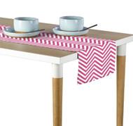 Pink Chevron Milliken Signature Table Runner - Assorted Sizes