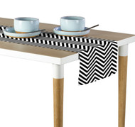 Black Chevron Milliken Signature Table Runner - Assorted Sizes