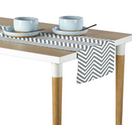 Grey Chevron Milliken Signature Table Runner - Assorted Sizes