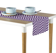 Purple Chevron Milliken Signature Table Runner - Assorted Sizes