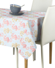 Marine Life Seahorses Coral Signature Rectangle Tablecloths