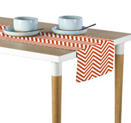 Orange Chevron Milliken Signature Table Runner - Assorted Sizes