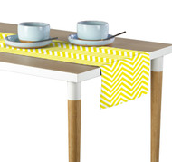 Yellow Chevron Milliken Signature Table Runner - Assorted Sizes