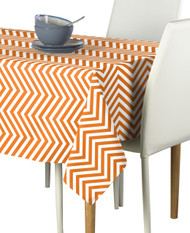 Orange Chevron Milliken Signature Rectangle Tablecloths