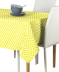 Yellow Chevron Milliken Signature Rectangle Tablecloths