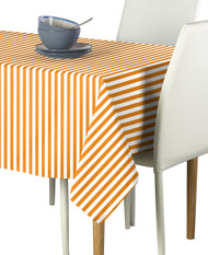 Orange Small Stripes Milliken Signature Rectangle Tablecloths
