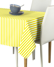 Yellow Small Stripes Milliken Signature Rectangle Tablecloths
