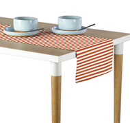 Orange Small Stripes Milliken Signature Table Runner - Assorted Sizes