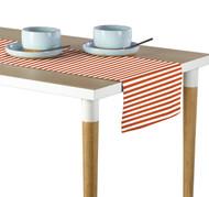 Orange Small Stripes Milliken Signature Table Runner - Assorted Sizes