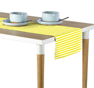 Yellow Small Stripes Milliken Signature Table Runner - Assorted Sizes