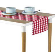 Red Picnic Check Milliken Signature Table Runner - Assorted Sizes