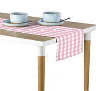 Pink Picnic Check Milliken Signature Table Runner - Assorted Sizes