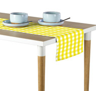 Yellow Picnic Check Milliken Signature Table Runner - Assorted Sizes