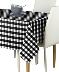 Black Picnic Check Milliken Signature Rectangle Tablecloths