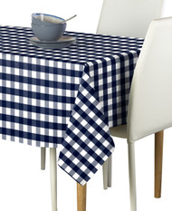 Navy Picnic Check Milliken Signature Rectangle Tablecloths