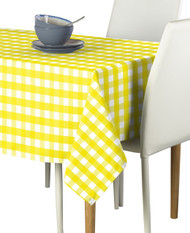 Yellow Picnic Check Milliken Signature Rectangle Tablecloths