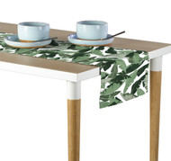 Large  Green Palms Milliken Signature Table Runner - Assorted Sizes