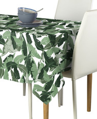 Large  Green Palms Milliken Signature Rectangle Tablecloths