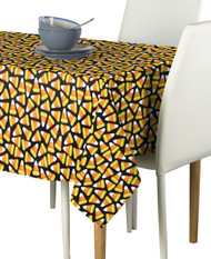 Candy Corn Black Milliken Signature Rectangle Tablecloths