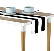 Black & White Cabana Stripe Milliken Signature Table Runner - Assorted Sizes