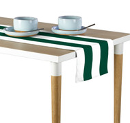 Forest & White Cabana Stripe Milliken Signature Table Runner - Assorted Sizes