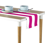 Fuchsia & White Cabana Stripe Milliken Signature Table Runner - Assorted Sizes