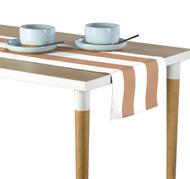 Tan & White Cabana Stripe Milliken Signature Table Runner - Assorted Sizes