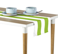 Lime & White Cabana Stripe Milliken Signature Table Runner - Assorted Sizes