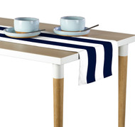 Navy & White Cabana Stripe Milliken Signature Table Runner - Assorted Sizes