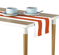 Orange & White Cabana Stripe Milliken Signature Table Runner - Assorted Sizes