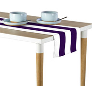 Purple & White Cabana Stripe Milliken Signature Table Runner - Assorted Sizes