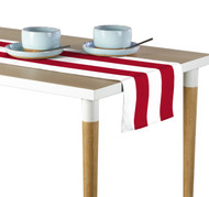 Red & White Cabana Stripe Milliken Signature Table Runner - Assorted Sizes