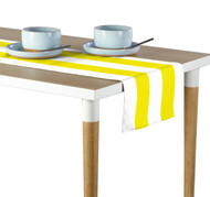 Yellow & White Cabana Stripe Milliken Signature Table Runner - Assorted Sizes