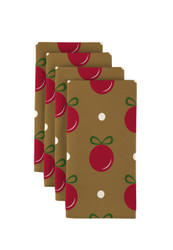 "Red Christmas Balls on Gold Milliken Signature Napkins 18""x18"" 1 Dozen"